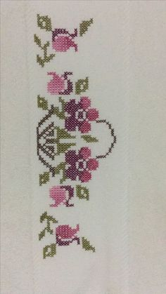This Pin was discovered by Mıs Cross Stitch Bookmarks, Cross Stitch Borders, Cross Stitch Alphabet, Cross Stitch Flowers, Cross Stitch Designs, Cross Stitch Embroidery, Hand Embroidery, Cross Stitch Patterns, Knitting Patterns