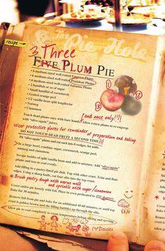 Three Plum Pie recipe from the Pushing Daisies comic book