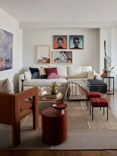 This room has just the right amount of color, pattern and texture.