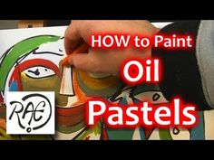 How to add OIL PASTELS to Acrylic Paintings STEP by STEP tutorial by RAEART - YouTube