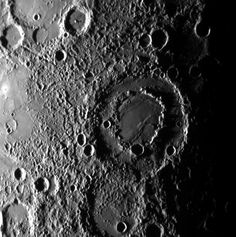 Double impact crater on #Mercury.