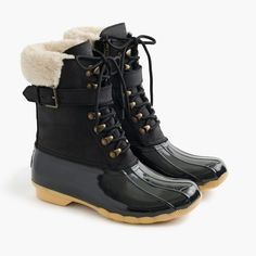 Driving moccasins in croc-embossed leather - Winter Boots - Ideas of Winter Boots - womens Women's Sperry for J.Crew Shearwater buckle boots in black Cute Winter Boots, Winter Shoes, Outfit Winter, Winter Boots For Women, Cute Snow Boots, Black Winter Boots, Snow Boots Women, Ugg Classic Short, De Stijl