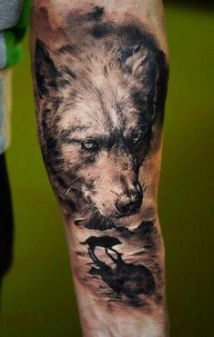 Wolf # tattoo