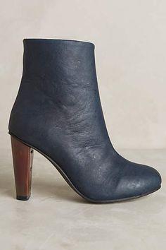 Sydney Brown Copper Heel Booties | vegan shoes | vegan boots