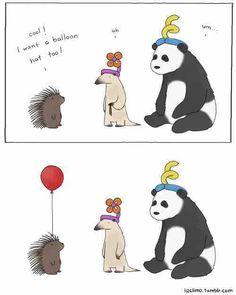 ハリネズミ氏「オイラにも風船でできた帽子をおくれよ!」→提供されたソリューションのこれじゃない感w