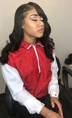 black womens hairstyles in the Black Girls Hairstyles, Pretty Hairstyles, Hairstyle Ideas, Hair Ideas, Weave Hairstyles, Straight Hairstyles, School Hairstyles, Curly Hair Styles, Natural Hair Styles
