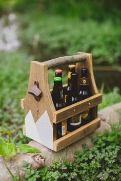 The perfect groomsmen gift! A beer caddy that doubles as a flower caddy for the ladies! https://www.etsy.com/listing/276602296/beer-caddy-flower-caddy-beverage-caddy Kite Parade