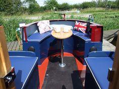 "narrowboat builders ~ bespoke narrowboats ~ narrowboat fitters - ""idle ours"" Canal Boat Narrowboat, Canal Boat Interior, Canal Barge, Narrowboat Interiors, Houseboat Living, Boat Projects, Back Deck, Floating House, Boat Stuff"
