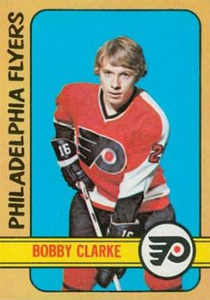 Bobby Clarke number 14 year 1972 set name 1972 o pee chee Flyers Hockey, Hockey Games, Ice Hockey, Bobby, Minnesota North Stars, Minnesota Wild, Quebec Nordiques, Hockey Hall Of Fame, Nhl Season