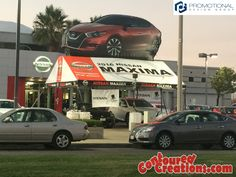 2016 Nissan Maxima (Inflatable and Tent). PromotionalDesignGroup.com