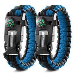 Merica Emergency Paracord Bracelets - Set Of 2