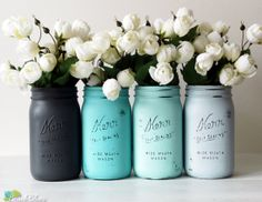 Chic summer idea for a cute setting. Mason jars are always a hit!