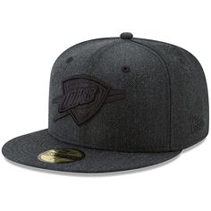 2da73a775db Oklahoma City Thunder New Era Total Tone 59FIFTY Fitted Hat - Heathered  Black