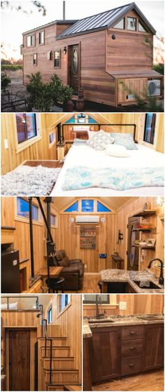 California Tiny House Designs and Builds a Rustic 28ft Home on Wheels - Recently, we shared with you a home from California Tiny House that was a wooden masterpiece, now we have another one for you! This tiny house has tons of curb appeal and charm with cedar siding and a metal roof. Pricing starts at $45,000 with plenty of options to make this tiny house your perfect home.