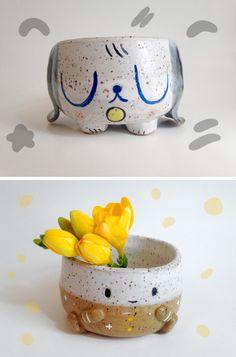 Ceramic Clay, Porcelain Ceramics, Ceramic Pottery, Pottery Art, Clay Art Projects, Ceramics Projects, Clay Crafts, Mini Vasos, Pottery Classes