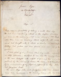 Charlotte Brontë's novel Jane Eyre mixes gothic motifs with a romantic plot. View manuscripts by the author and read articles by leading literature experts.
