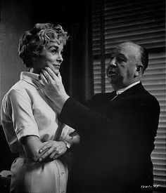 Janet Leigh and Alfred Hitchcock