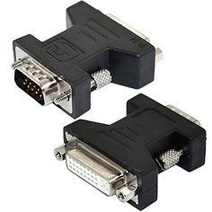 DVI-I 24+5 pin Female to SVGA VGA male 15 pin Video Card Converter Adapter Generic http://www.amazon.com/dp/B00MVMA8KM/ref=cm_sw_r_pi_dp_ZU9hub1CZQXAA