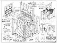 loom weaving machine plan - Google Search