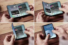Das kann doch mal was, oder? Project #Valley: #Samsung-Handy mit Falt-Display. (Quelle: weibo/gforgames)