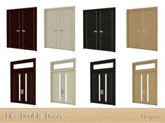 Two new doors in 4 colours Found in TSR Category 'Sims 4 Construction Recolor Sets'