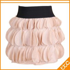 Ball Gown Chiffon Mini Skirts Colorful apricot / blue / black / coffee / rose red
