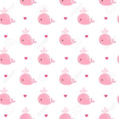 Illustration of Cute background with cartoon pink whales. Seamless pattern can be used for wallpapers, pattern fills, web page backgrounds, surface textures. vector art, clipart and stock vectors. Cartoon Wallpaper, Cute Girl Wallpaper, Cute Wallpaper For Phone, Kids Wallpaper, Kawaii Wallpaper, Pattern Wallpaper, Heart Wallpaper, Cute Wallpapers For Ipad, Cute Wallpapers Quotes