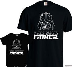 Matching Father Son Shirts I Am Your Father Shirt Son Baby Bodysuit Matching Family Shirts First Fathers Day Men's Todder Tee MD-428 - www.babies-clothe...