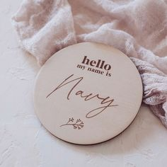 Baby Name Announcement, Name Plaques, Hello My Name Is, Personalized Baby, Photography Props, Wooden Signs, Baby Names, Signage, Place Card Holders