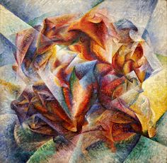 Umberto Boccioni, Dinamismo di un footballer, 1913. New York, Museum of Modern Art