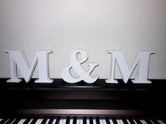 Hochzeitsbuchstaben als Geschenk, 20 cm x 3,6 cm von Designsouris auf DaWanda.com
