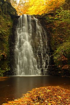 Fall nature pictures waterfalls 17 ideas for 2020 Yorkshire England, Yorkshire Dales, North Yorkshire, Cornwall England, Beautiful Waterfalls, Beautiful Landscapes, Beautiful World, Beautiful Places, Autumn Nature