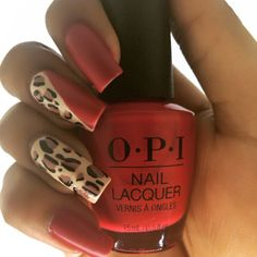 An easy to follow tutorial on creating this red leopard print nail design