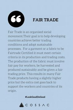 Fair trade is a concept that much of the world is unfamiliar with or is not willing to pay more for. This along with the disasters around the world are bound to increase costs of products while also slowing down production. Peyton Roy