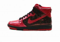detailed look db4c0 7dd3c Women Nike Dunk High Skinny Sequin Pack Red. It was one of the most  anticipated
