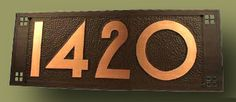 $280 4 Number Copper Address Plaques