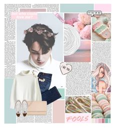"""♡""Wait for them to ask you who you know..""//EXO Kai Set ♡"" by akinddakai ❤ liked on Polyvore featuring Pink Mint, 7 For All Mankind, Chicwish, Michael Kors, Converse, Cult Gaia and Joie"