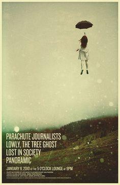 Parachute journalists show