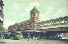An old postcard of the Wilmington train station - with the work done last year, it looks this good once again!
