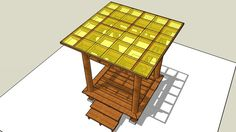 Gazebo Atap Datar 2x2 M2 Uk. Lantai (a) - 3D Warehouse