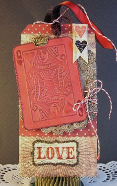 Queen of Hearts card tag - maybe a Valentine card