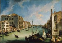 Canaletto The Grand Canal from San Vio, Venice ca. Oil on canvas. x cm Museo Thyssen-Bornemisza, Madrid INV. Grand Canal, Italian Painters, Italian Artist, Canvas Art Prints, Painting Prints, Paintings, Palazzo, Piazza San Marco, Jean Antoine Watteau