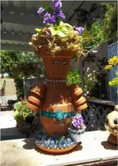 How To Make Clay Flower Pot People
