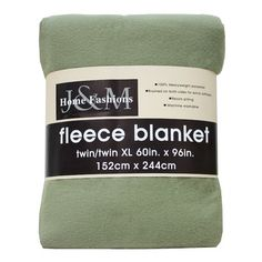 J&M Home Fashions Polar Fleece Blanket Size: Twin/Twin XL, Color: Oil Green