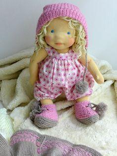 Baby doll - natural fiber art doll by Dearlittledoll