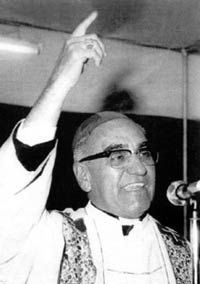 Oscar Romero murdered for preaching against the violence and working alongside the poor.