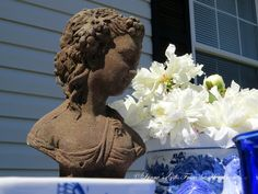 Lynne's Gifts From the Heart: ~ Dining Outdoors with Blue and White ~