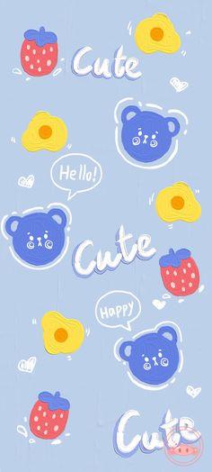 Wallpaper Space, Bear Wallpaper, Pink Wallpaper Iphone, Cute Wallpaper For Phone, Iphone Background Wallpaper, Cute Disney Wallpaper, Painting Wallpaper, Cute Cartoon Wallpapers, Aesthetic Iphone Wallpaper