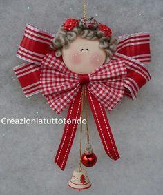 Christmas Angels Felt Handmade Holidays Xmas Crafts Projects Tree Ornaments Decorations