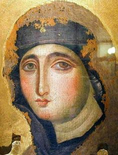 Very old icon of Our Lady Religious Icons, Religious Art, Sainte Therese De Lisieux, La Madone, Images Of Mary, Queen Of Heaven, Blessed Mother Mary, Byzantine Art, Holy Mary